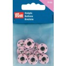 Sew-On Snap Fasteners, Brass, Rustproof, 14mm, 5 Sets, Pink