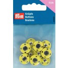 Sew-On Snap Fasteners, Brass, Rustproof, 14mm, 5 sets, Yellow