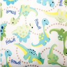"Babyville PUL Fabric Dinosaurs/Green, 64"" X 6 Yards Bolt"