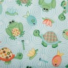 "Babyville Pul Fabric Turtles & Frogs/Turquoise, 64"" X 6 Yards Bolt"