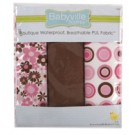 "Babyville Pul Fabric Package, Mod Girl Flower & Dots - 21"" x 24"" (53.30cm x 61cm), 3ct."