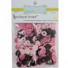 Babyville  Plastic Resins Snaps 12.2mm, 60 Sets, Mod Girl Flowers