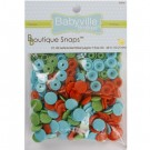 Babyville  Plastic Resins Snaps 12.2mm, 60 Sets, Playful Pond
