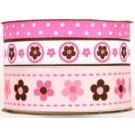 Babyville Boutique Printed Ribbon - Mod Girl Flowers