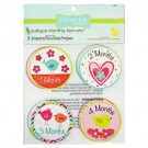 Babyville Boutique Monthly Iron-Ons - Little Birds/Hearts