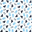 "Babyville PUL Fabric Pirates & Skulls, 64"" X 6 Yards Bolt"