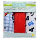 """Babyville PUL Fabric Package, Pirate, Skull, And Red - 21"""" x 24"""" (53.30cm x 61cm), 3ct."""