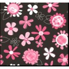 "Babyville PUL Fabric Pink Floral, 64"" x 6 yards bolt"