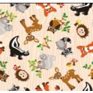 "Babyville PUL Fabric Forest Friends, 64"" x 6 yards bolt"