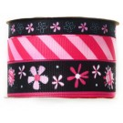 "Babyville  Boutique Printed Ribbon Collection,  Pink Floral, 3/8"", 5/8"" and 7/8"" x 2 yards each"
