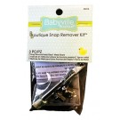 Babyville Snap Remover Kit, 3 pc. (2 Snap Removal Metal Dies/1 Metal Shank)