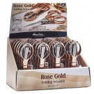 Rose Gold Folding Scissors 24pc. Display