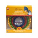 Knifty Knitter Round Loom Set: Set Includes 4 Looms, 1 Hook, 1 Needle.