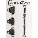 Skirt Hooks, Silver Carded, 3 Sets Per Card