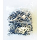 Pant Hooks & Bars - Silver (Sold in 1 Gross Lot Only)