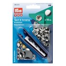 Prym Sport & Camping Non-Sew Snap Fastener Kit, Nickel, 15mm (Includes 10 Sets of Snaps)
