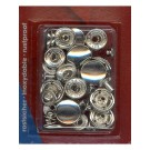 Anorak Snap Fastener Refill, 15mm, 10 Sets, Nickel
