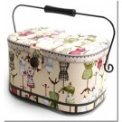 "Large Oval Sewing Basket, Dress Form Pattern with an Organizer Inside, 12"" x 6-3/8"" x 7-1/5"""