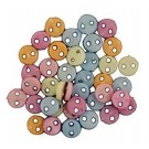 Pastel Micro Buttons, 4mm, 40 count