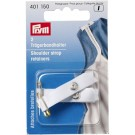 Shoulder strap retainers with safety pin, white, 2 pieces