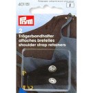 Shoulder strap retainers with safety pin, Black, 2 Pieces