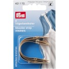 Shoulder strap retainers for sewing on, Beige, 4 Pieces
