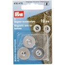 Magnetic Sew On Buttons, Silver, 19mm, 3 count