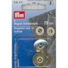 Magnetic Sew On Buttons, Gold, 19mm, 3 count