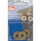 Magnetic Sew On Buttons, Antique Brass, 19mm, 3 count