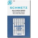 Schmetz HLx5 Professional Quilter's Machine Chrome Shank Needles, Size 16 (Medium to Heavy Weight Fabric), 5 Count