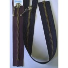 Anti. Brass Separable Zipper, 40cm, Dropball Tag