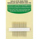 Gold Eye Quilting Needles Size 10