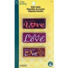 Sew In Embroidered Quilt Labels (Quilted With Love) 9 count