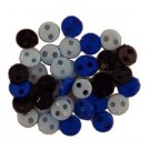 Denim Micro Buttons, 4mm, 40 count