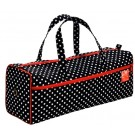 Prym Knitting Bag With Carry Handles & Zip Opening, Polka Dots Pattern, Black & White Design, 44cm x 14cm x 17cm