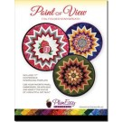"Point of View Folded Star Wreath Pattern with printed interfacing template: 17"" Folded Star Wreath - By PlumEasy"