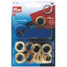 Eyelets With Washers, 14mm Brass