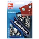Prym Eyelets With Washers, 8mm, Silver, 24pc.