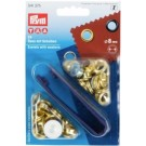 Prym Eyelets With Washers, 8mm, Gold, 24pc.