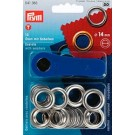 Prym Eyelets With Washers, 14mm, Silver, 10pc.