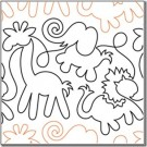 "Animal Crackers, 9.5"" Wide Longarm Pantograph Pattern - Single Row, 144"" Long (Old Item#: QC10223)"