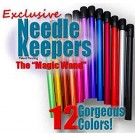 "Needles Keeper (Needle Keepers),  Assorted Colours, 7"" Long, one count: The ""Magic Wand"" to protect your circular needles and your stitches"