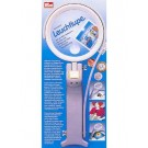 Universal Magnifying Glass 180 degree rotatable lamp and integrated lens for 8x magnification.