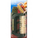 Mohair brush, brown, plastic