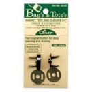 "Clover Magnet Tote Bag Closure 3/4"", Black Nickel"