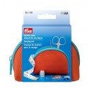 Prym Travel Box Sewing Set/Kit, Medium - Orange/Blue