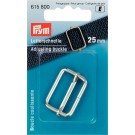 Adjusting Buckle for Bags/Purses, Metal, Silver, 25MM