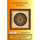 Colourwash Dahlia Pattern by Lidia K. Froehler of A Cotton Treasure Design - A Quick Fusible Bias Tape Project