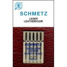 Schmetz Leather Needles, 5 count, assorted size 80, 90,100