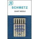 Schmetz Microtex  Needles, 5 count, assorted size 60,70,80